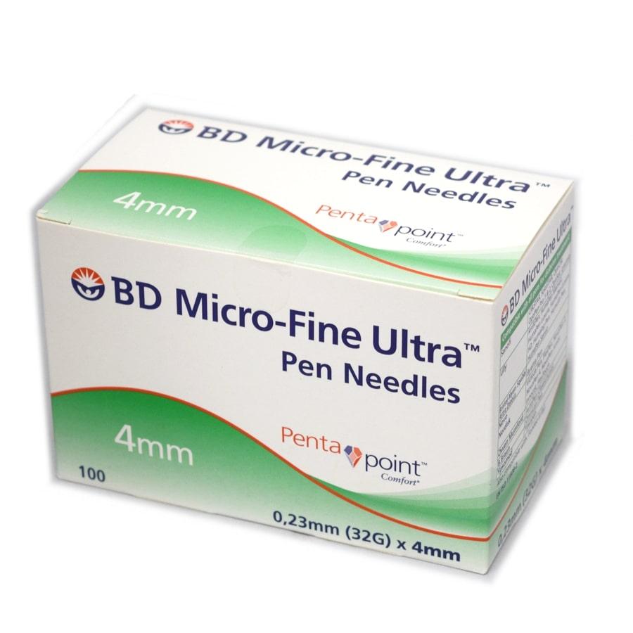 BD Microfine Ultra Pen Needles 4mm x 32g