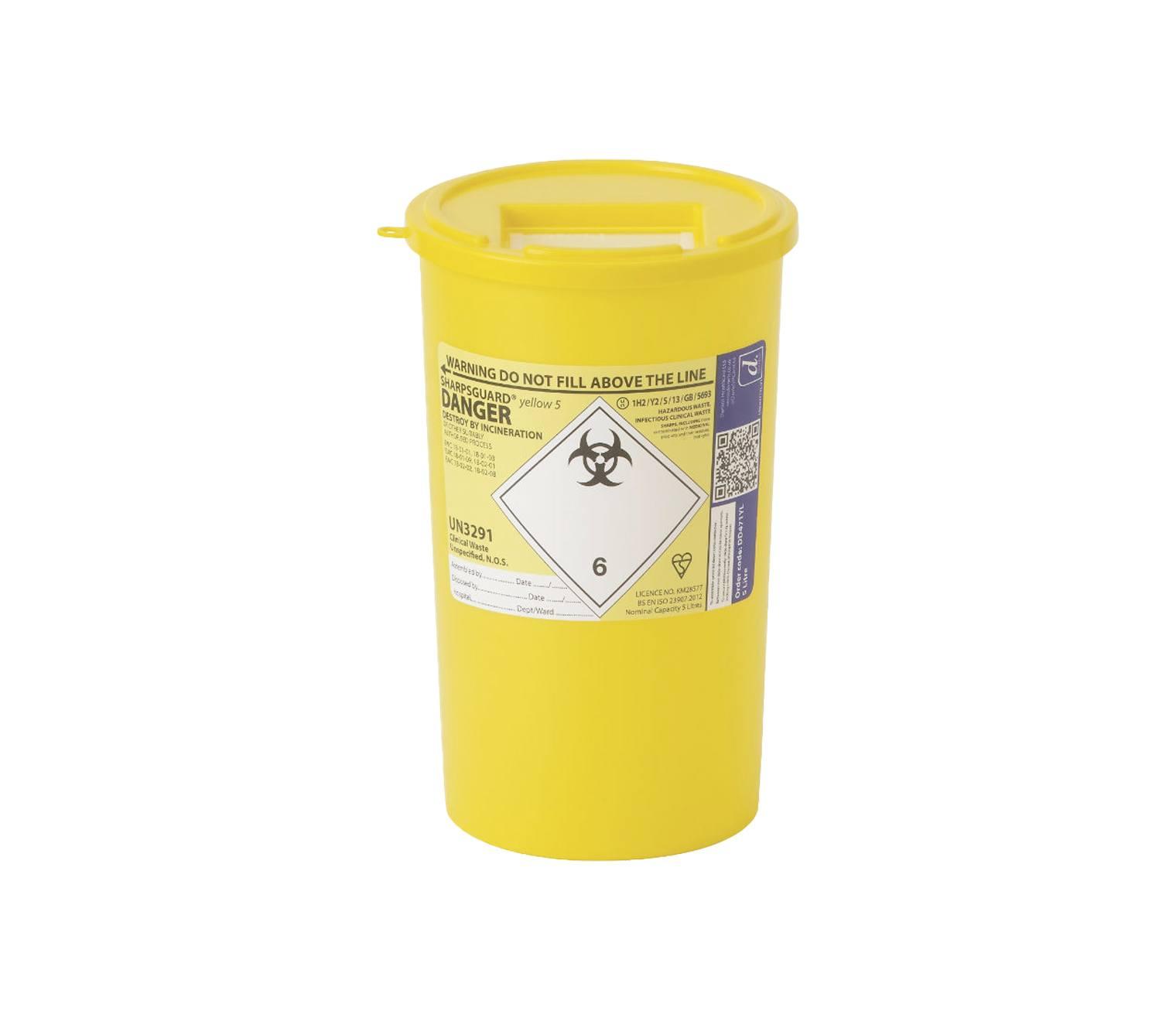 Sharpsguard 5 Litre Yellow